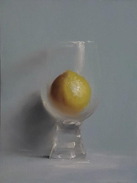 """""""Lemon in Glass"""" original fine art by Neil Carroll"""