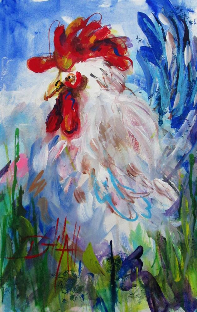 """""""Abstract Cluck"""" original fine art by Delilah Smith"""