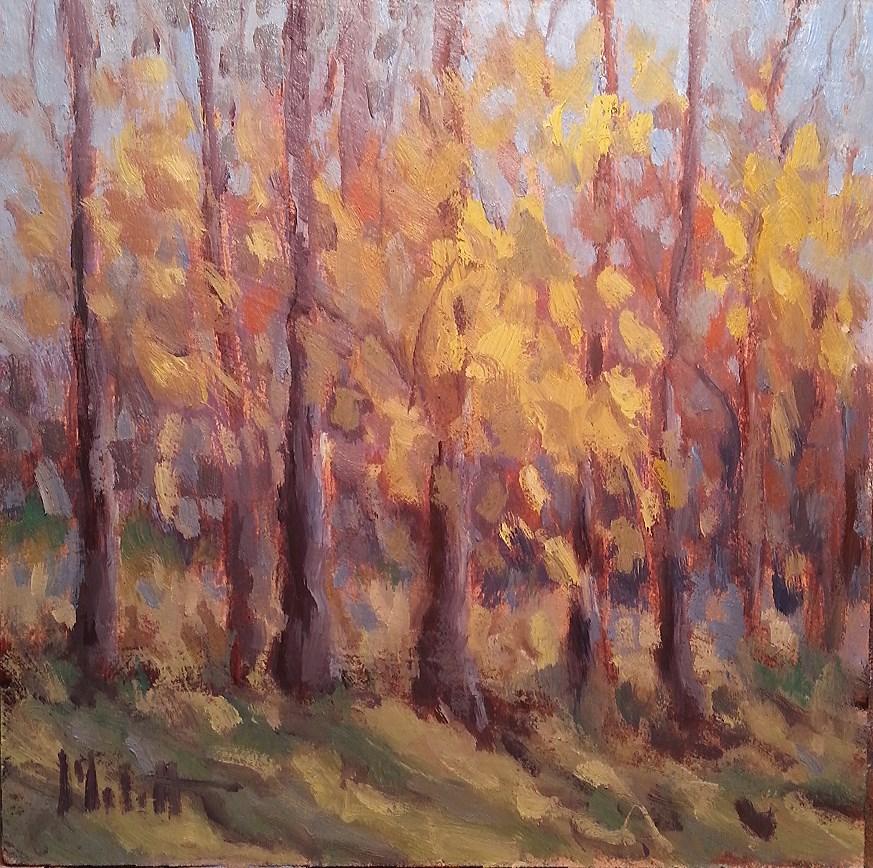 """October Morning Cider and Company Landscape Painting Original Oil"" original fine art by Heidi Malott"