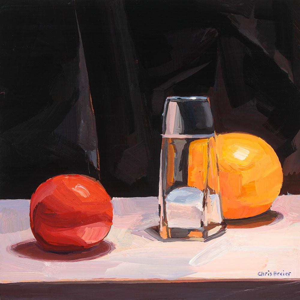 """""""Tomato Salt & Orange"""" original fine art by Chris Breier"""