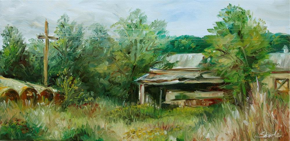 """Ranch at Kessler Park in Fayetteville Arkansas"" original fine art by Susan Sterle"