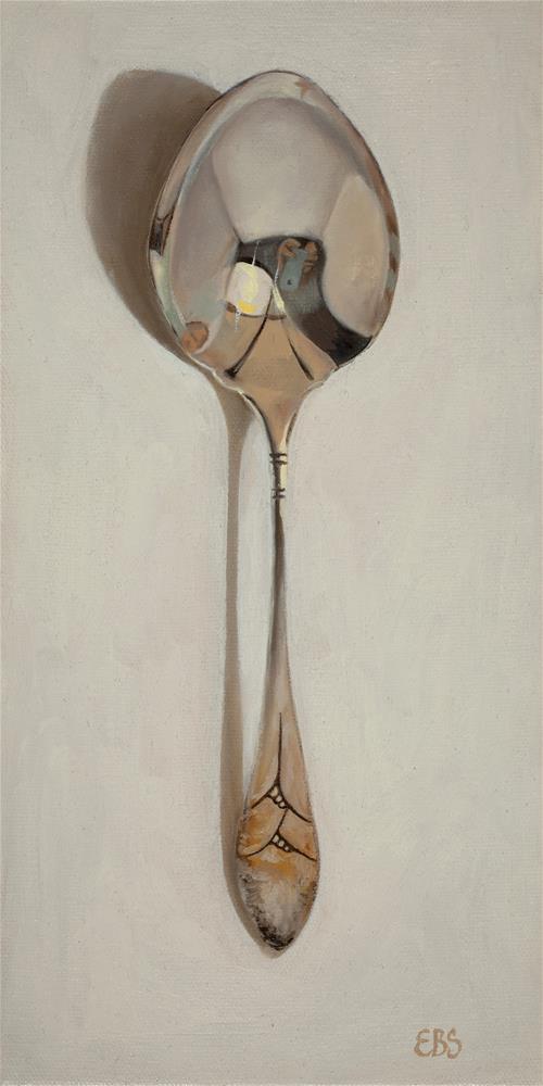 """Vintage Serving Spoon"" original fine art by Elaine Brady Smith"