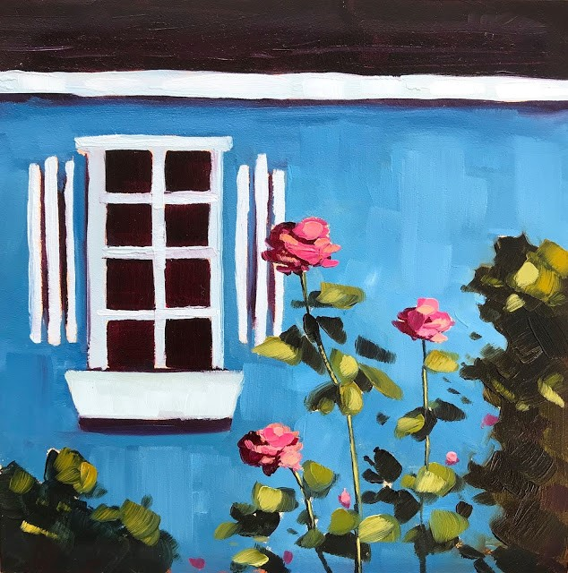 """Roses - 6x6"" original fine art by Sharon Schock"