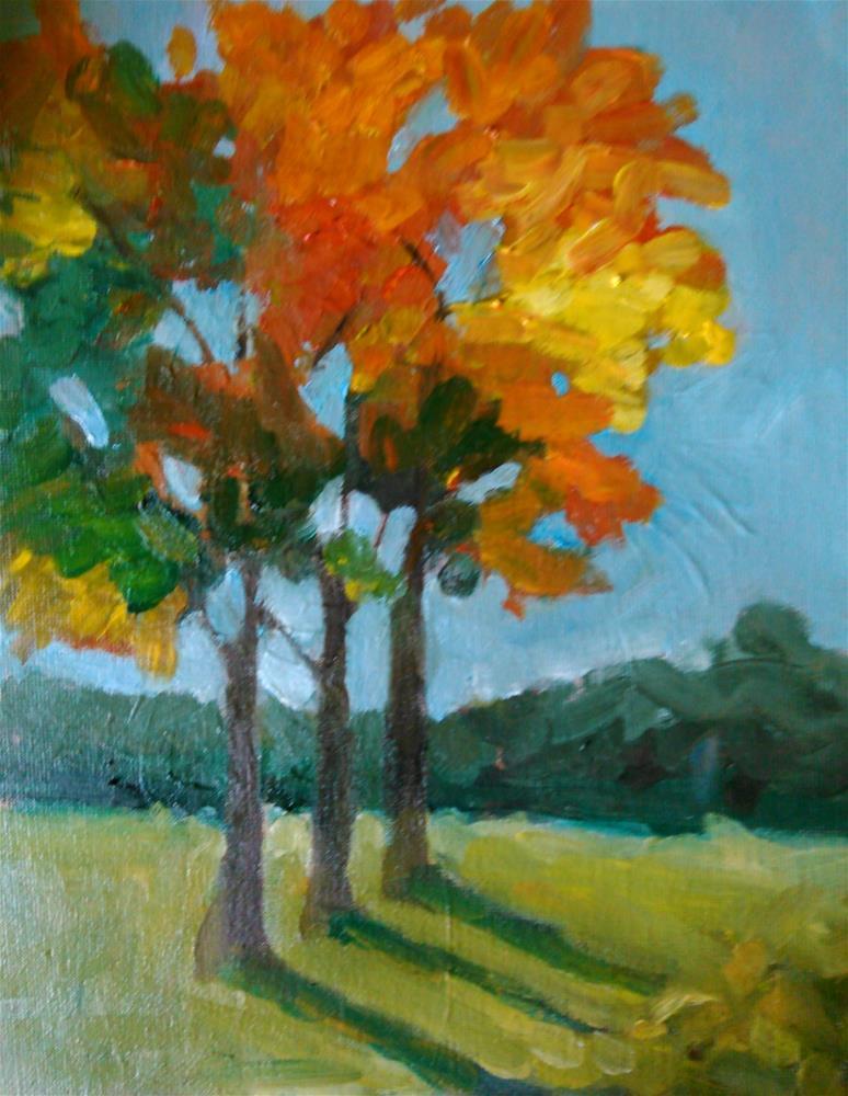 """""""Thru the Trees"""" original fine art by Gerri Obrecht"""