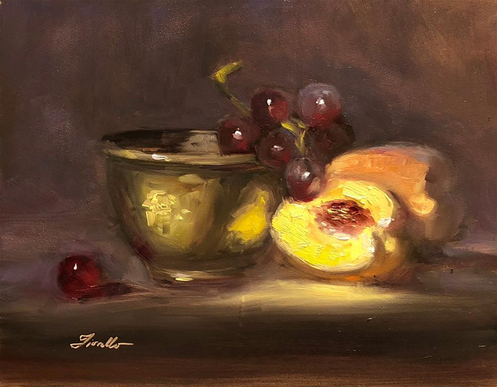 """Peach Bowl"" original fine art by Pat Fiorello"