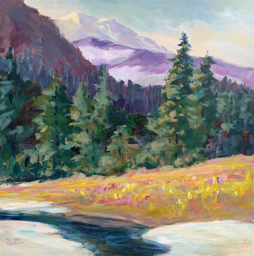 """Spring on the Trail"" original fine art by Melissa Gannon"