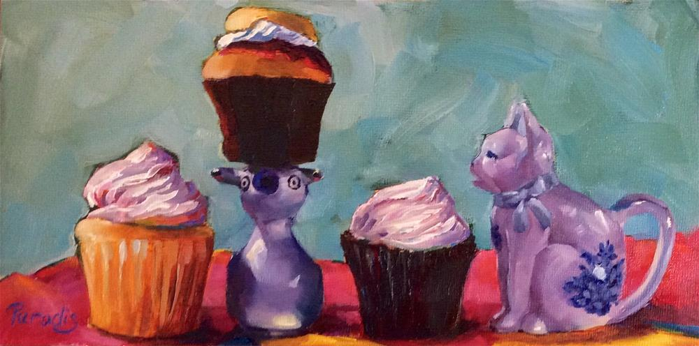"""Standing In the Lunch Line"" original fine art by Rita Paradis"