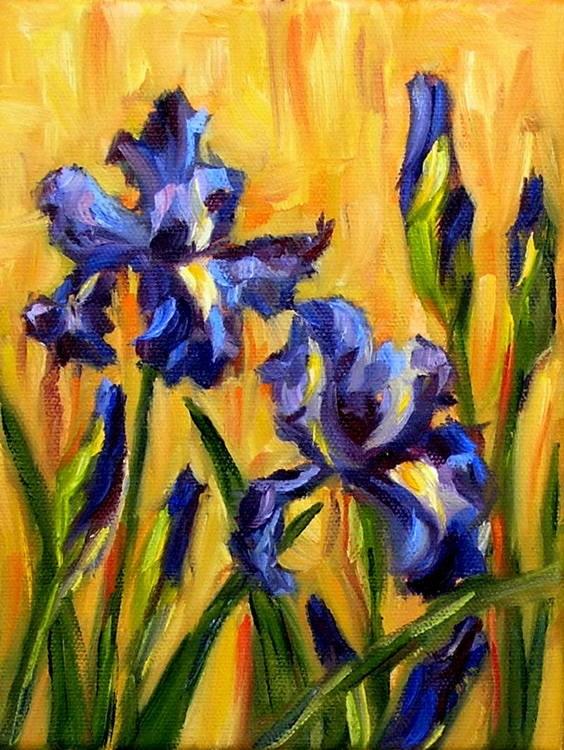 """""""Irises"""" original fine art by Irina Beskina"""