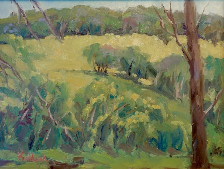 """Beautiful Pasture en Plein air"" original fine art by Daniel Fishback"