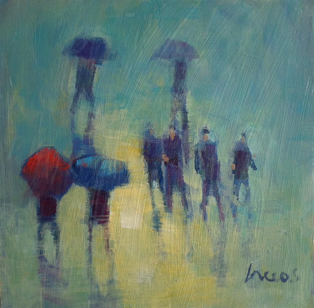 """""""in the rain"""" original fine art by salvatore greco"""