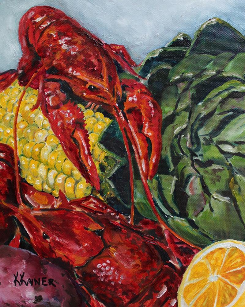 """Crawfish Boil"" original fine art by Kristine Kainer"