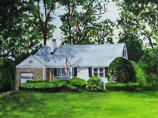 """""""Center Street"""" original fine art by Nan Johnson"""