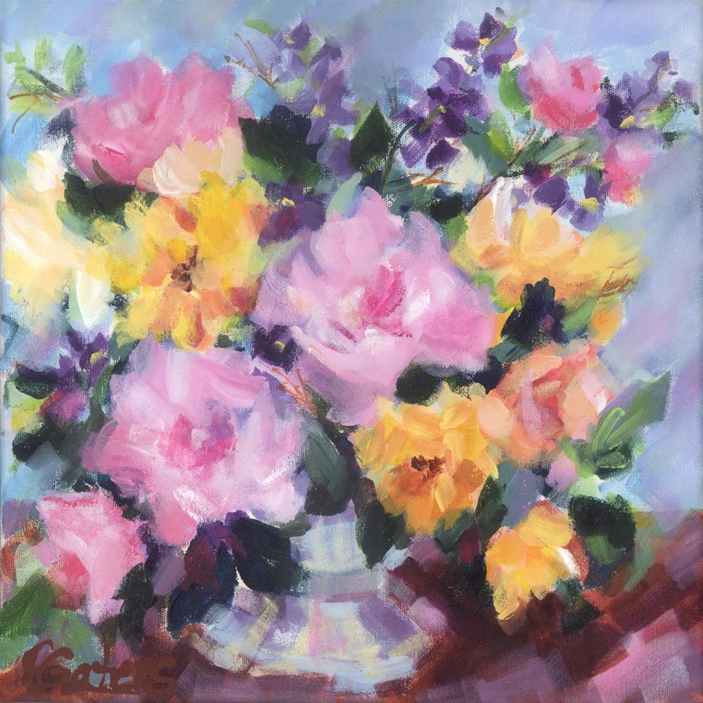 """""""Rose Bouquet"""" original fine art by Pamela Gatens"""