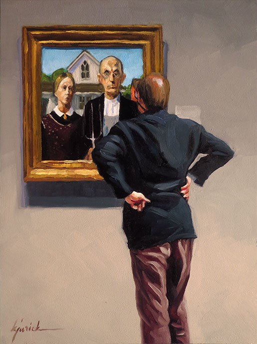"""Gentleman Farmer"" original fine art by Karin Jurick"