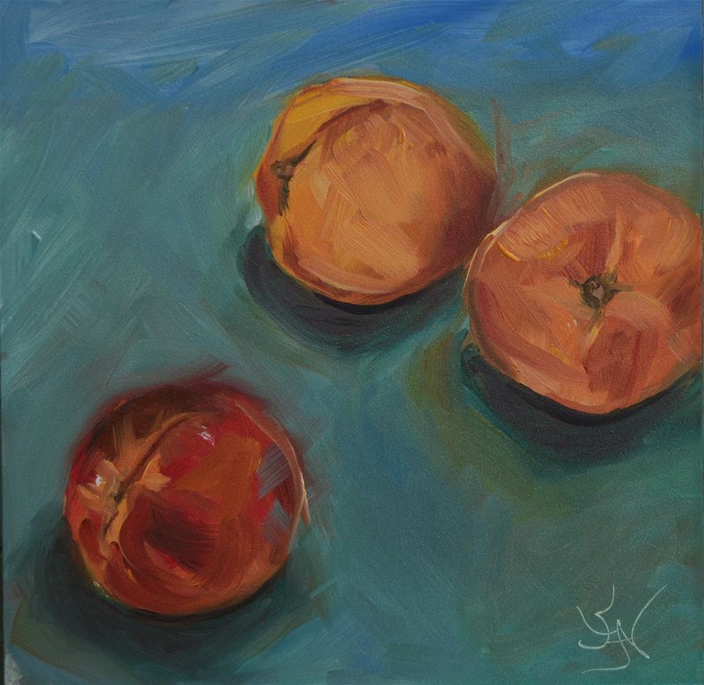 """Just Peachie"" original fine art by Jan Jackson"