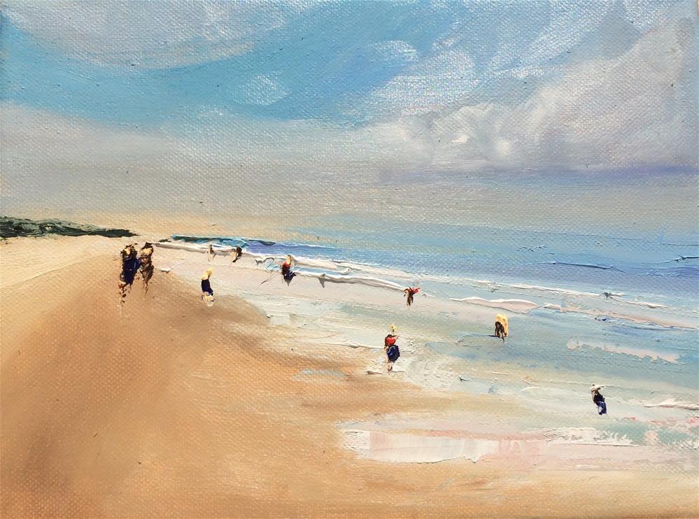 """Endless Shoreline"" original fine art by Astrid Buchhammer"
