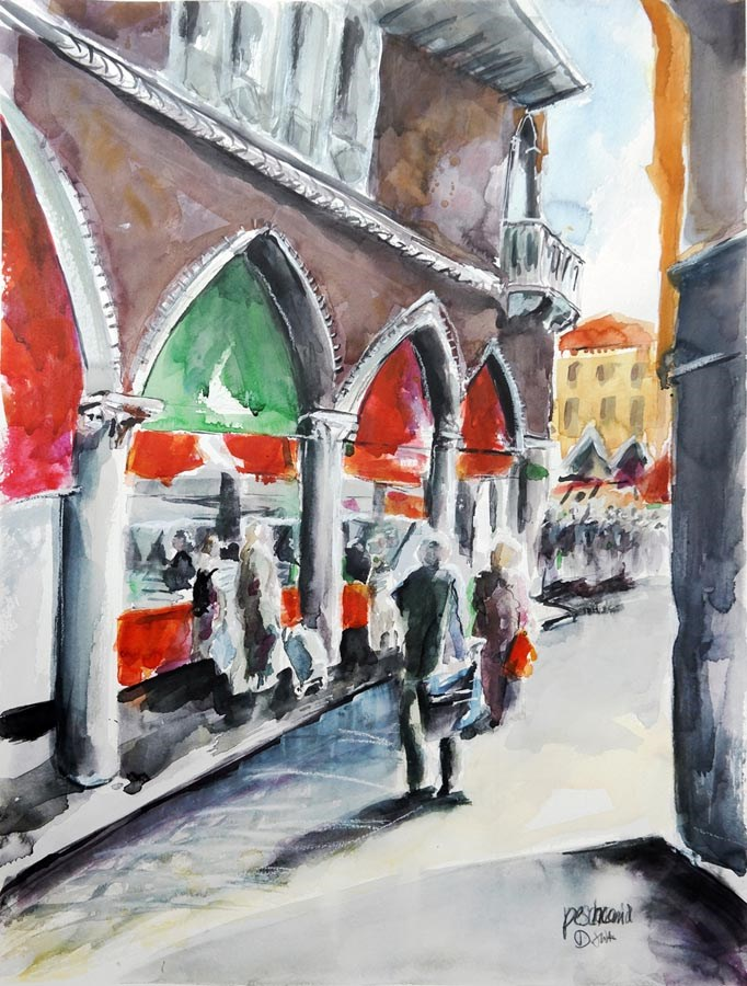 """1359 Pescheria"" original fine art by Dietmar Stiller"