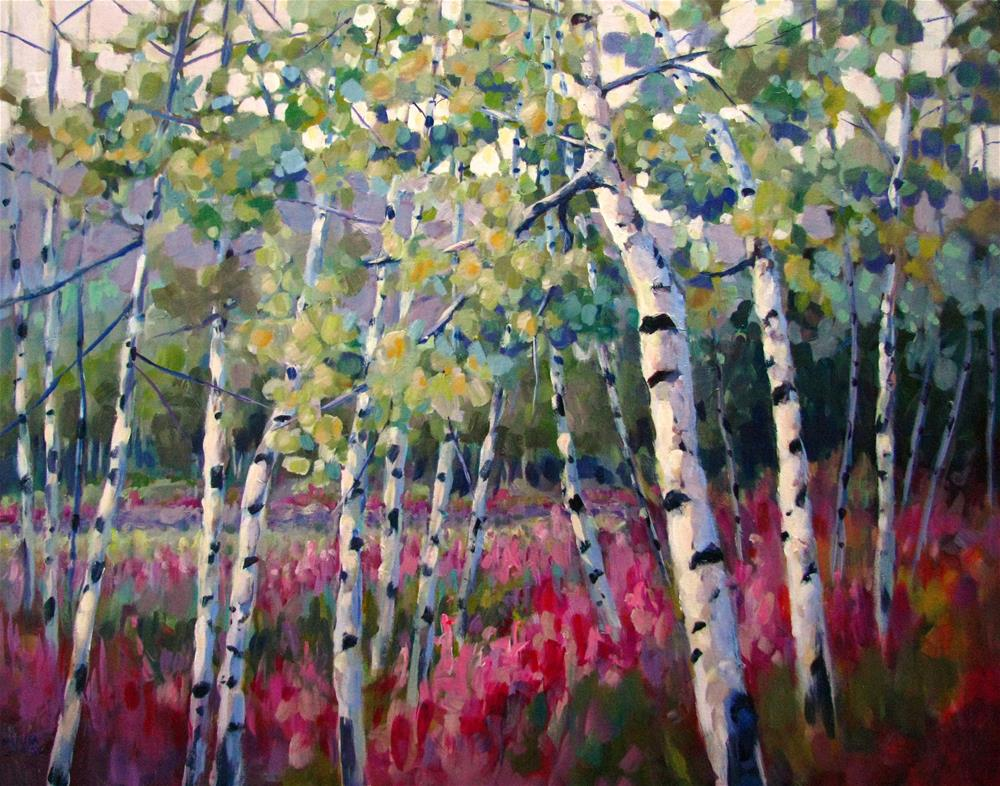 """Fireweed Splendor"" original fine art by Melissa Gannon"