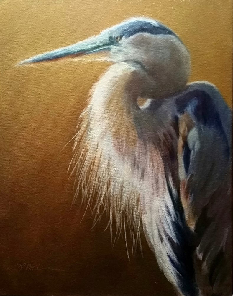 """""""Preened Nobility"""" original fine art by Marilyn R. Place"""