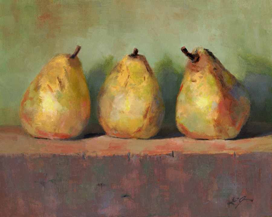 """Ripen Pears"" original fine art by Linda Jacobus"