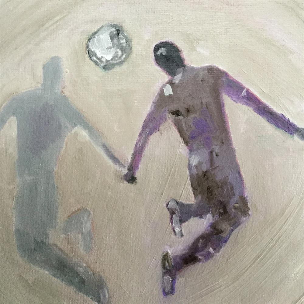 """Soccer ballet"" original fine art by pamela kish"