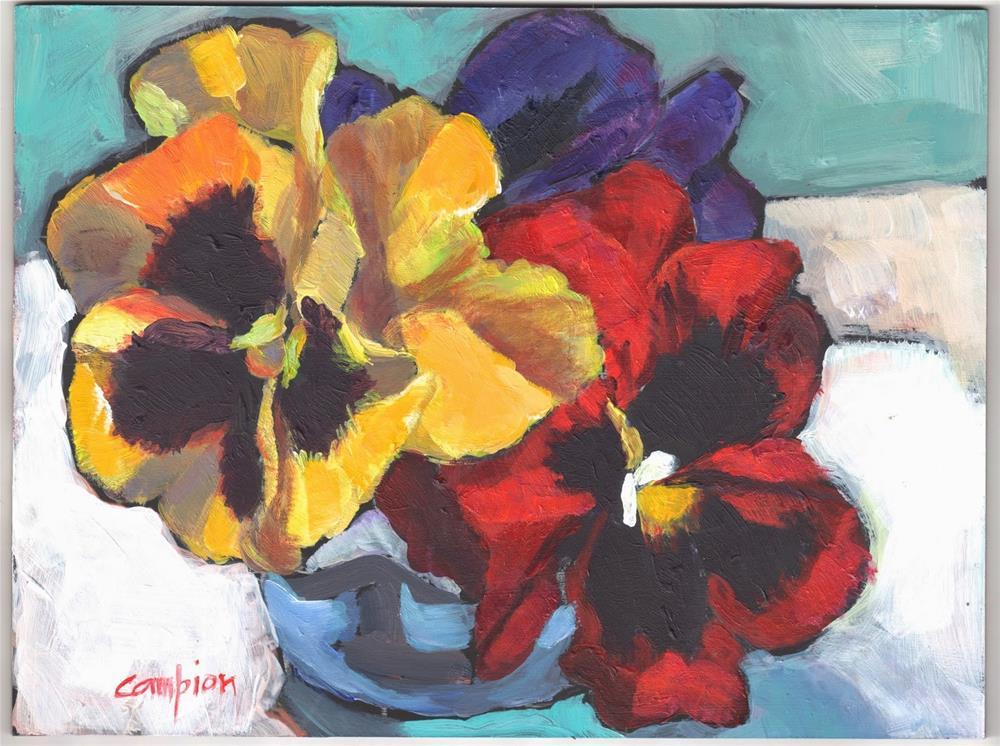 """353 Charming"" original fine art by Diane Campion"