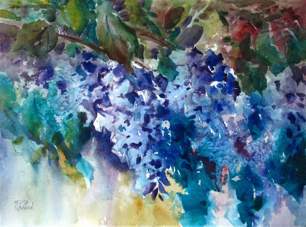 """Wisteria Mood"" original fine art by Melissa Gannon"