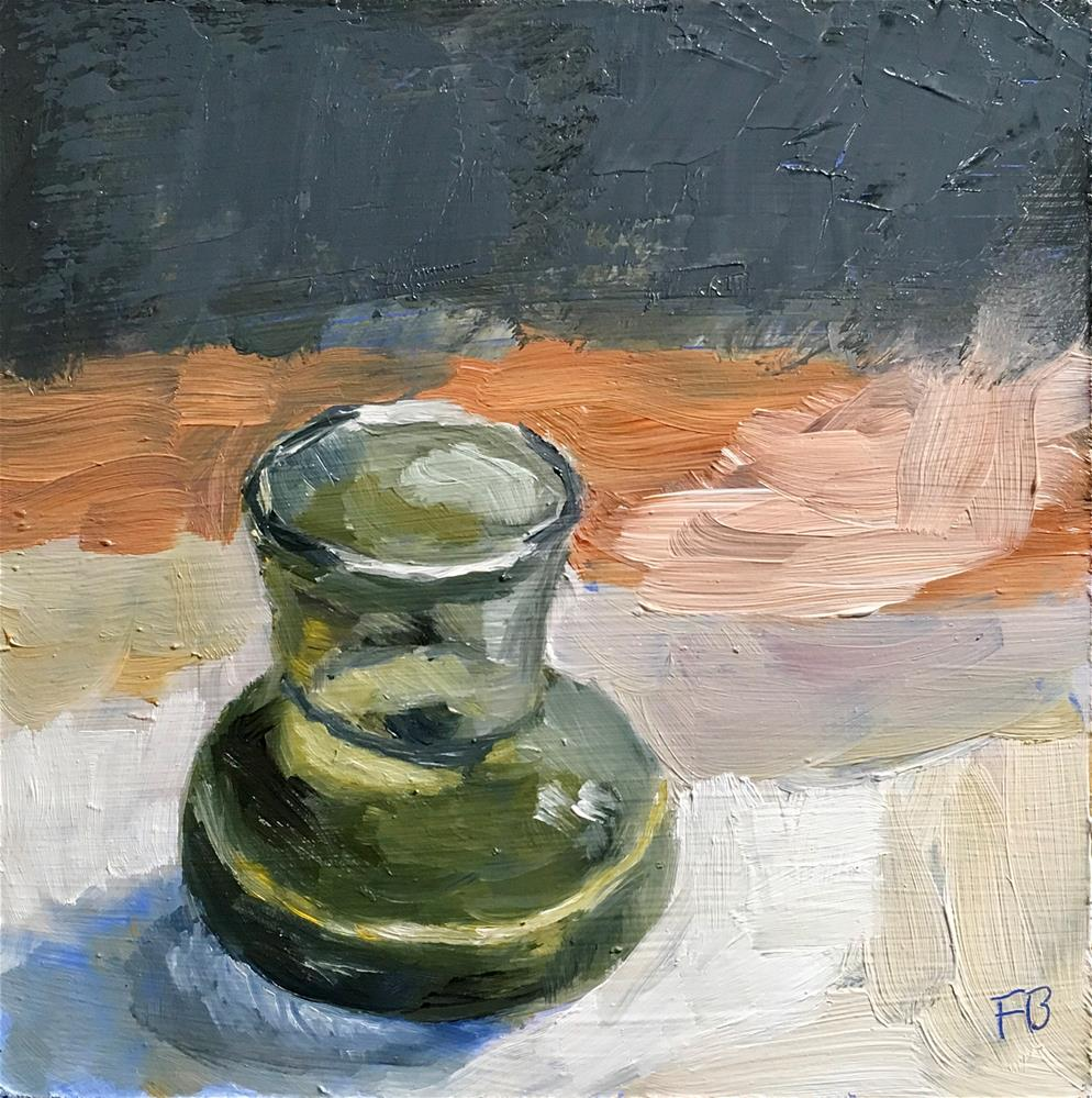 """098 Green Vase"" original fine art by Fred Bell"