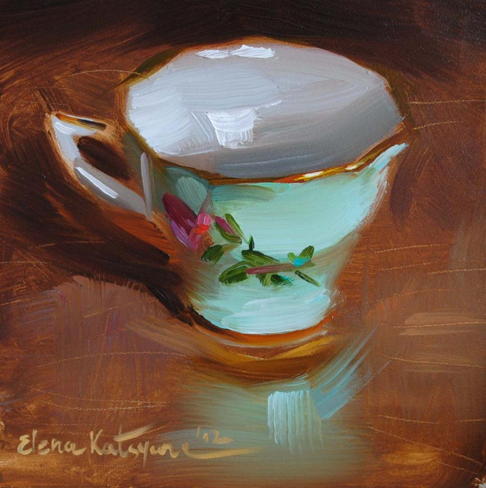 """Green China"" original fine art by Elena Katsyura"