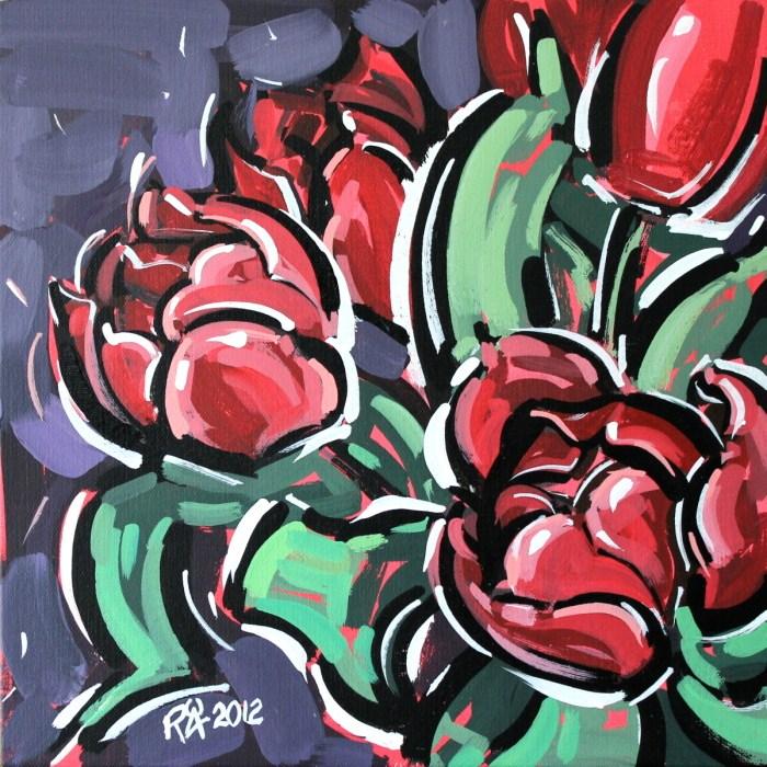 """Tulips 2"" original fine art by Roger Akesson"