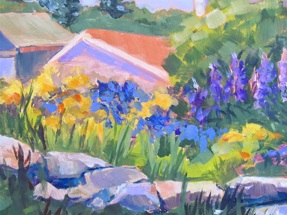 """The Neighbor's Garden"" original fine art by Lynne Schulte"