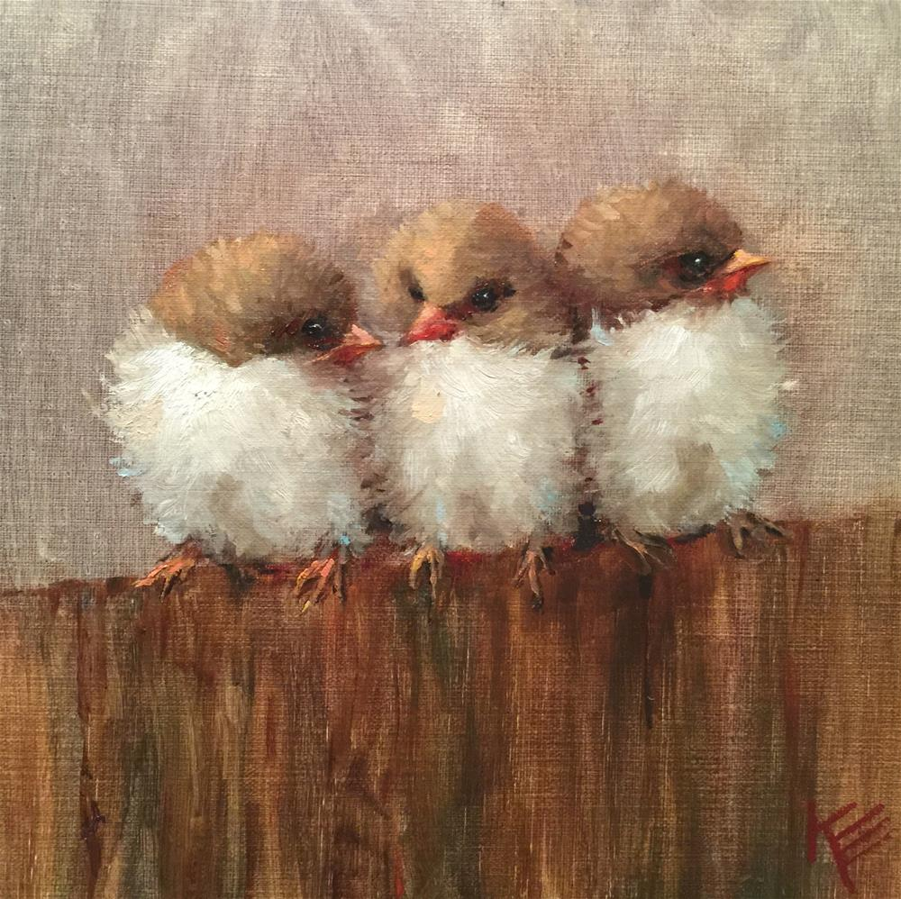 """Fluffy Friends"" original fine art by Krista Eaton"