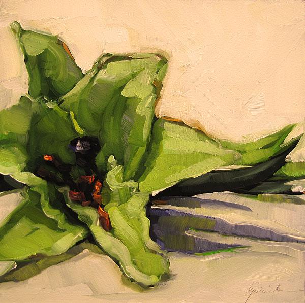"""White Lily"" original fine art by Karin Jurick"