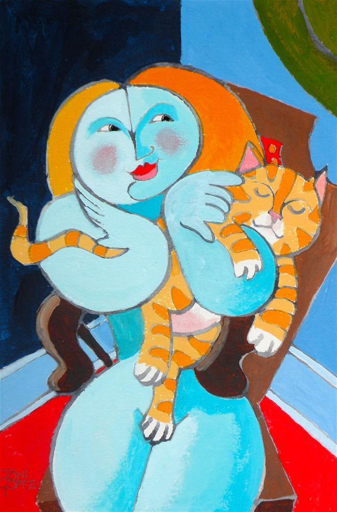 """Pablo Picasso's Pussy"" original fine art by Toni Goffe"