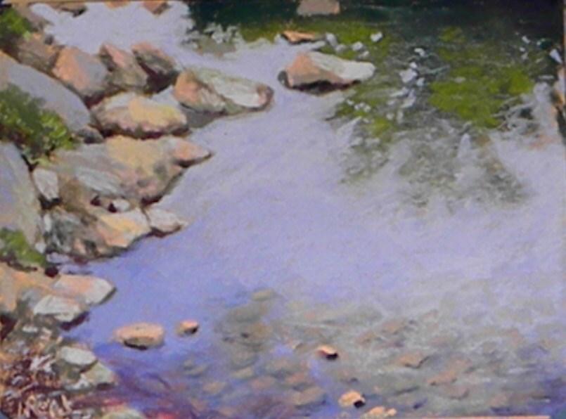 """""""Rock reflections"""" original fine art by Toby Reid"""