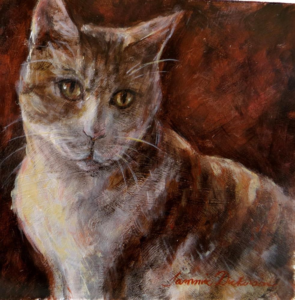 """Peppermint"" original fine art by Tammie Dickerson"