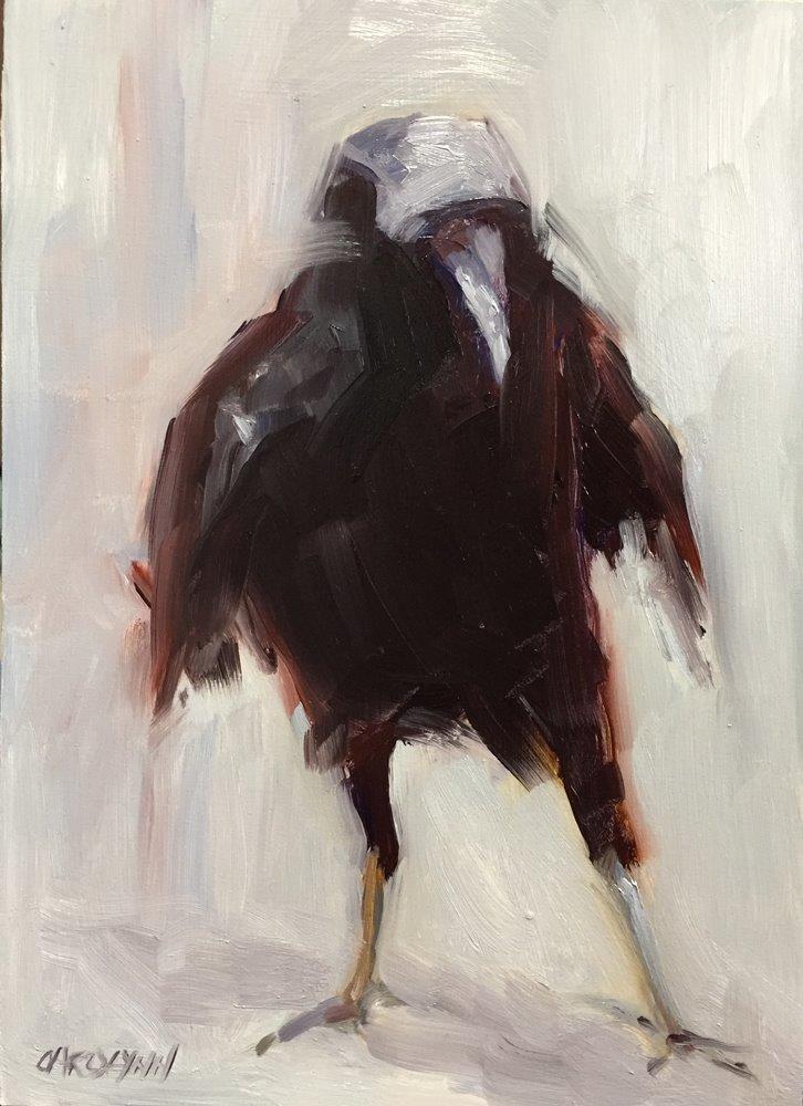 """""""Put Your Right Foot Forward"""" original fine art by Carolynn Doan"""