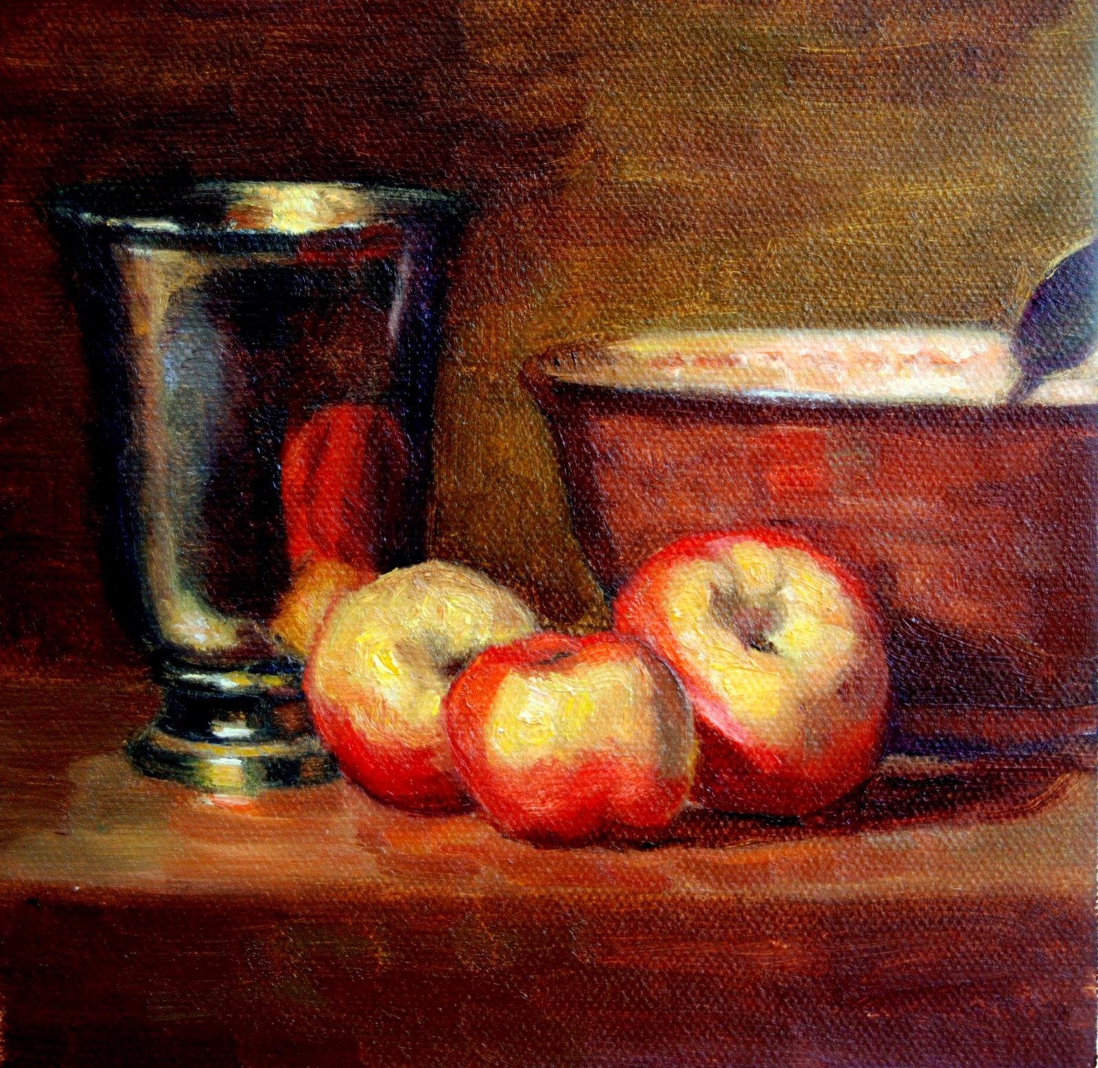 """""""Chardin Copy"""" original fine art by Julie Ford Oliver"""
