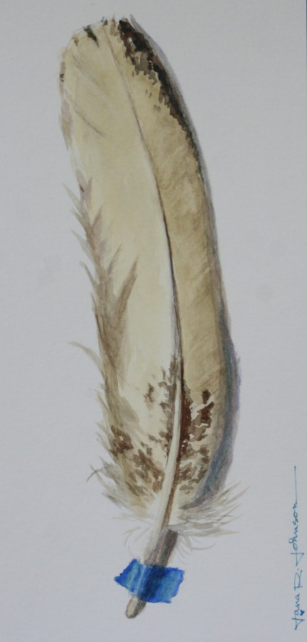 """Feather 1"" original fine art by Jana Johnson"
