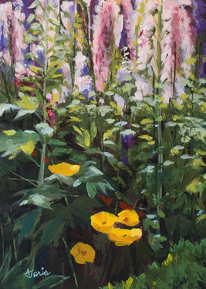 """Garden Delights"" original fine art by Andrea Jeris"