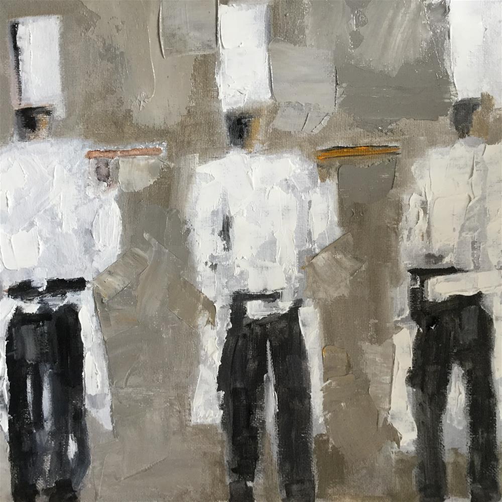 """Chef trio"" original fine art by pamela kish"