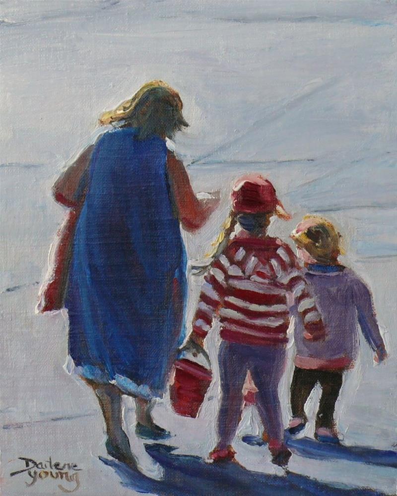 """737 Heading Home, Holland Point Beach Scene"" original fine art by Darlene Young"
