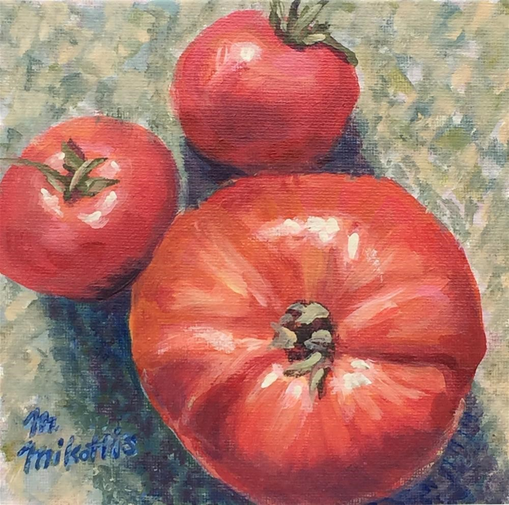 """""""Tomatoes From Above"""" original fine art by Michael Mikottis"""