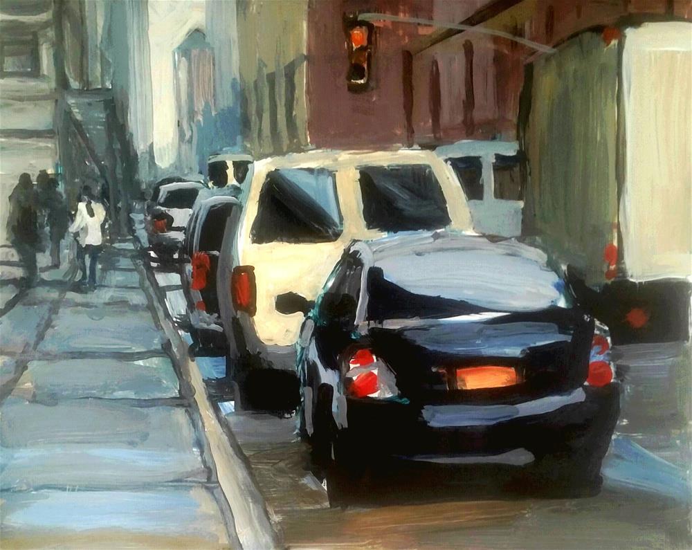 """NYC"" original fine art by Liz Maynes"