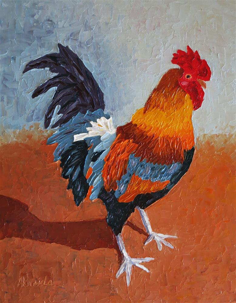 """Oviedo Rooster"" original fine art by Sandy Abouda"