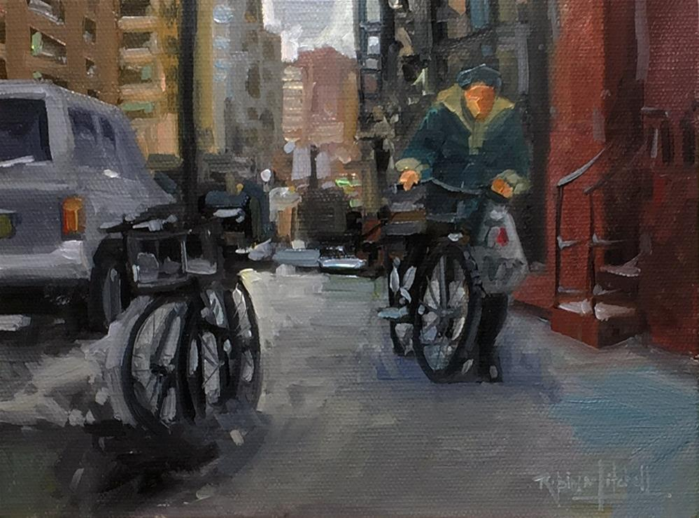 """No 847 The way Home"" original fine art by Robin J Mitchell"