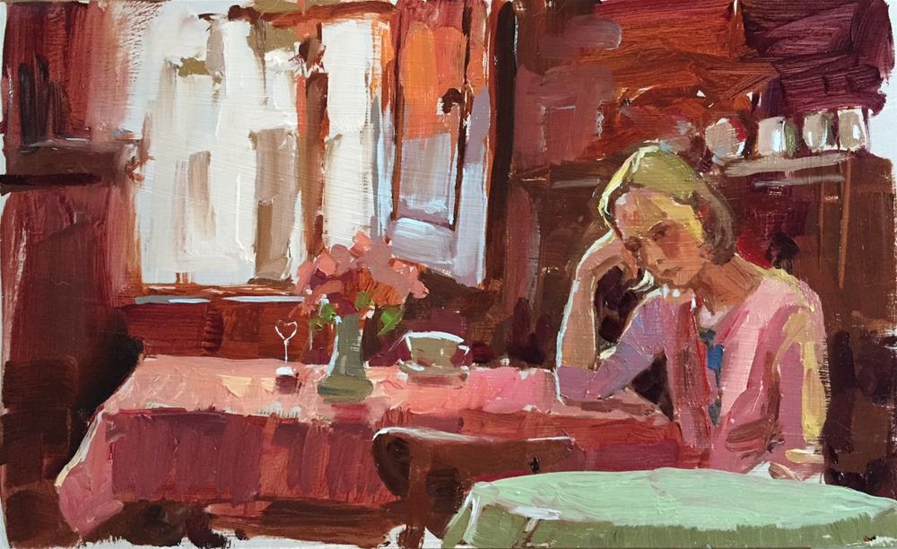 """Good morning heartbreak"" original fine art by Haidee-Jo Summers ROI"