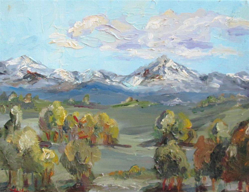 """Landscape No. 8 Mountains"" original fine art by Delilah Smith"