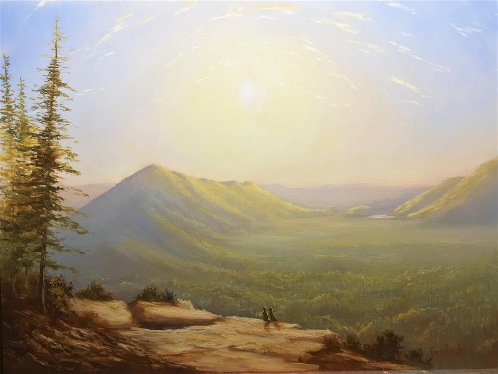 """Sunrise over Rattlesnake Ledge"" original fine art by Frankie Gollub"