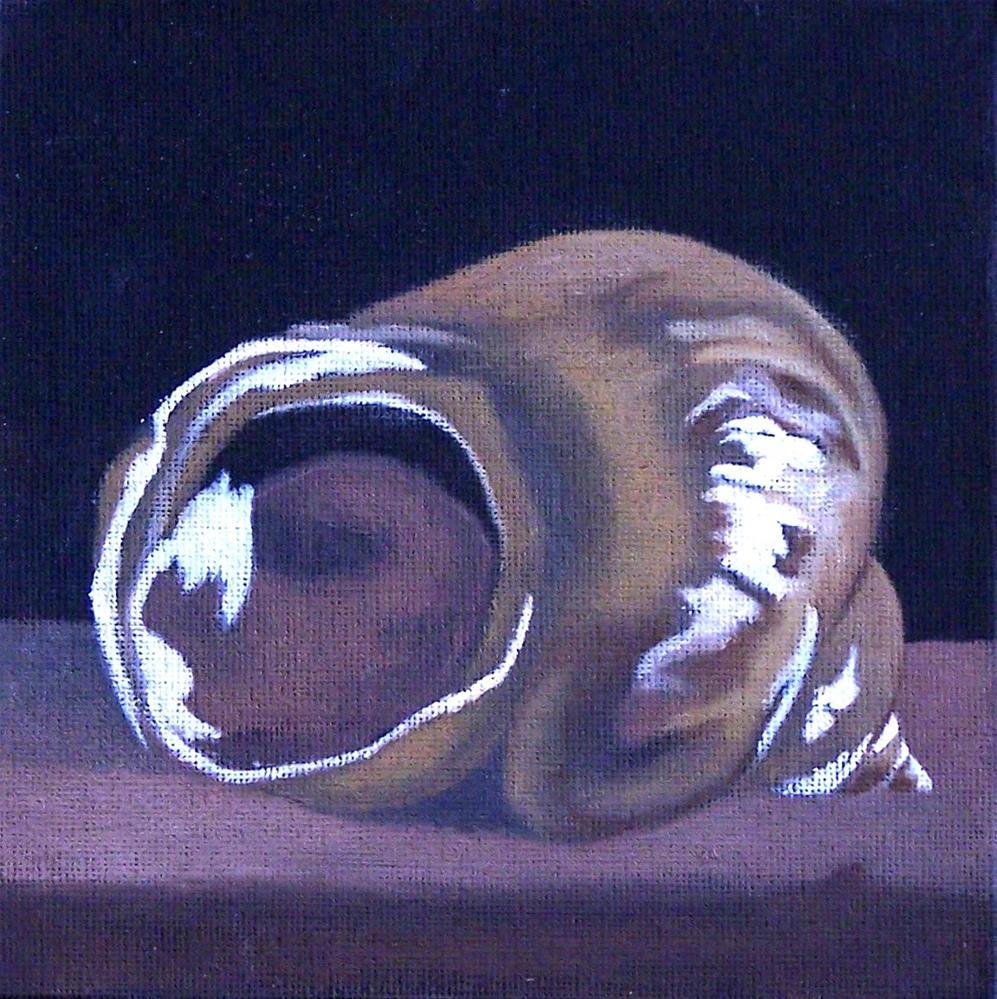 """Lone seashell"" original fine art by John Marcum"
